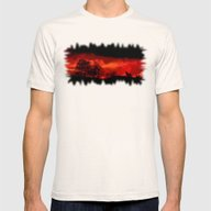 Cry Wolf Mens Fitted Tee Natural SMALL