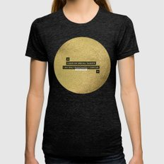Passionately Curious Womens Fitted Tee Tri-Black SMALL