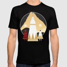 Journey SMALL Mens Fitted Tee Black