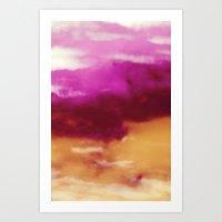 Cherry Rose Painted Clou… Art Print