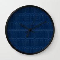 TARDIS Blueprint Pattern… Wall Clock