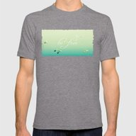 Freedom Mens Fitted Tee Tri-Grey SMALL