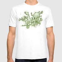 Octopus Tree Mens Fitted Tee White SMALL