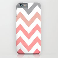 CORAL FADE CHEVRON iPhone 6 Slim Case