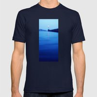 HEADLIGHT Mens Fitted Tee Navy SMALL