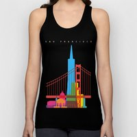 Shapes of San Francisco. Accurate to scale Unisex Tank Top
