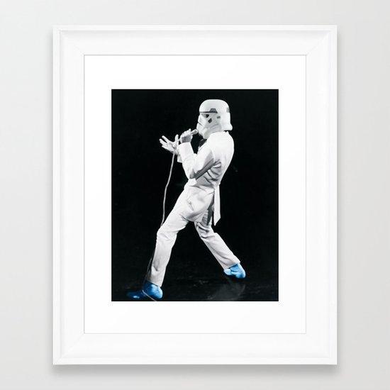 Blue Suede Trooper _ elvis and star wars Framed Art Print