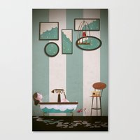 Soaked And Sleepy Canvas Print