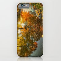 iPhone & iPod Case featuring Reflection of the fall by LudaNayvelt