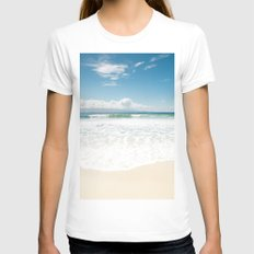 The Voice Of The Water Womens Fitted Tee White SMALL