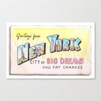 City Of Fat Chances Canvas Print