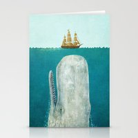i love you Stationery Cards featuring The Whale  by Terry Fan