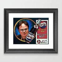 Dwight Schrute  |  Beet … Framed Art Print