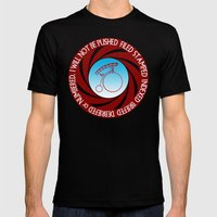 The Prisoner: I will not be pushed, filed, stamped... Mens Fitted Tee Black SMALL