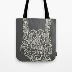 Horns Hand Tote Bag