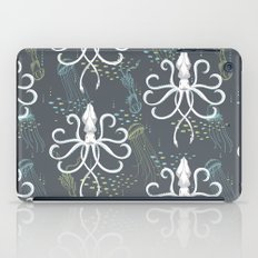 Ghostly Squid Damask iPad Case