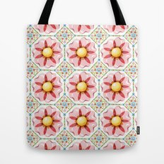Pink Flower Boho Chic Tote Bag