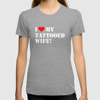 Tattooed Wife Womens Fitted Tee Tri-Grey SMALL