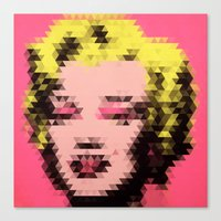 Marilyn - Triangles Canvas Print