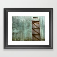 Lonely Door Framed Art Print