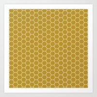 Honeycomb Hex Art Print