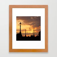 A Sunset In Paris Framed Art Print