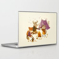Laptop & iPad Skin featuring Critters: Fall Camping by Teagan White