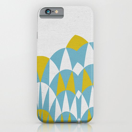 Modern Day Arches Blue and Yellow iPhone & iPod Case