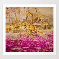 Autumn Pink Art Print