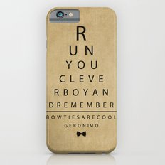Run You Clever Boy - Doctor Who Vintage Eye Exam Chart iPhone 6 Slim Case