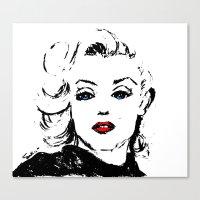 Marilyn M Canvas Print