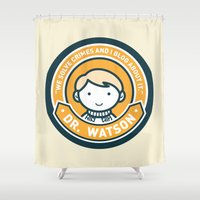 Cute John Watson - Orange Shower Curtain