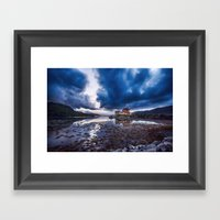 Dark Skies At Eilean Don… Framed Art Print