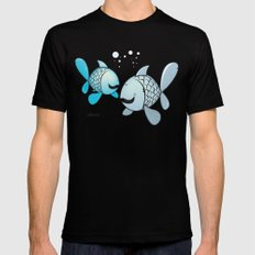 funny zodiac/pisces SMALL Mens Fitted Tee Black
