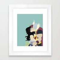 A Match Made In Asgard Framed Art Print