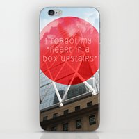 heart in a box upstairs iPhone & iPod Skin