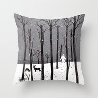 Mister Yeti's Great Esca… Throw Pillow