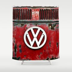 VW Retro Red Shower Curtain