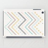 Mixed Zig Zag - in Marigold iPad Case