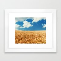 Wheat Fields Forever Framed Art Print