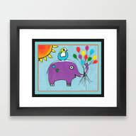 Framed Art Print featuring Up Up And Away With Bord… by Kathleen Sartoris