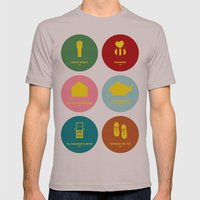 Wes Anderson Mens Fitted Tee Cinder SMALL