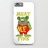 iPhone & iPod Case featuring Meat Fink by motorbot