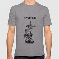 Mischief Mens Fitted Tee Athletic Grey SMALL