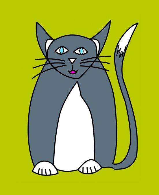 Pussy cat Pussy cat, I love you! Art Print