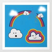 The Great Rainbow Cloud … Art Print