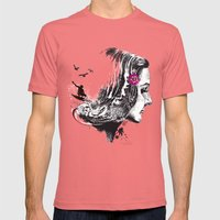 SURFHAIR Mens Fitted Tee Pomegranate SMALL