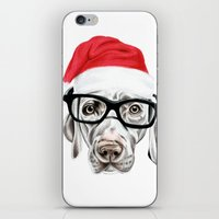Christmas Weimaraner iPhone & iPod Skin