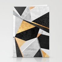 Geometry / Gold Stationery Cards