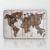 Wood Map 2 Laptop & iPad Skin
